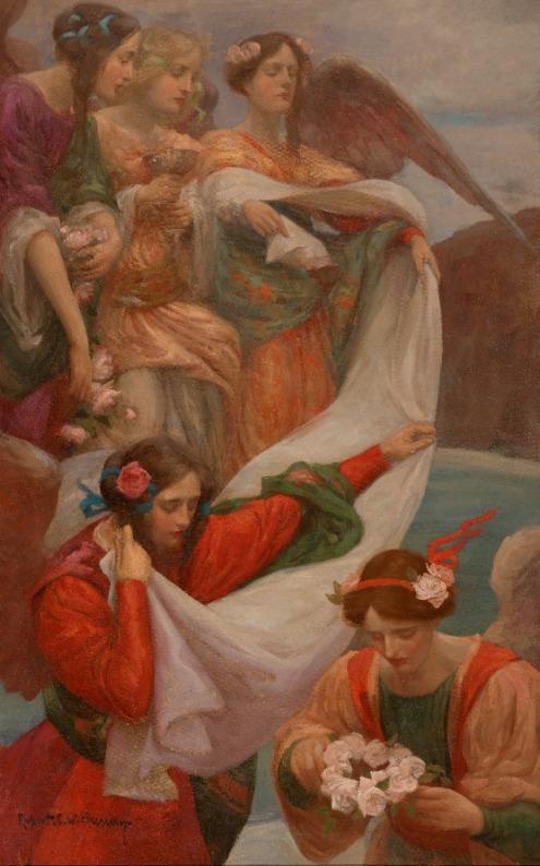 Rupert Bunny,Angels Descending,c.1897