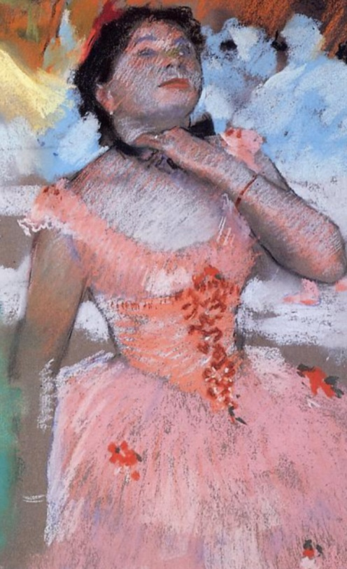 Edgar Degas, The Entrance of the Masked Dancers (1882), Pastel on gray wove paper, Sterling and Francine Clark Art Institute - Williamstown, MA (United States), Image credit: The Athenaeum, (detail).