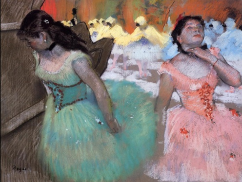 Edgar Degas, The Entrance of the Masked Dancers (1882),Pastel on gray wove paper, Sterling and Francine Clark Art Institute - Williamstown, MA (United States), Image credit: The Athenaeum