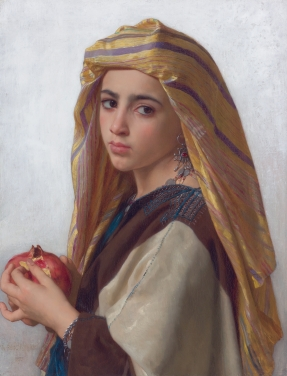 Girl with a pomegranate, by William Bouguereau (1875)