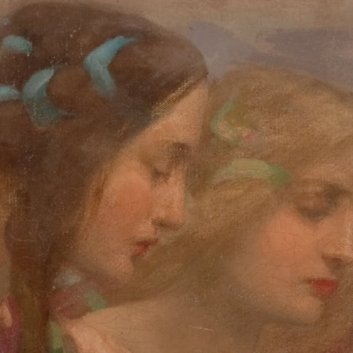 Rupert Bunny,Angels Descending,c.1897 (detail)