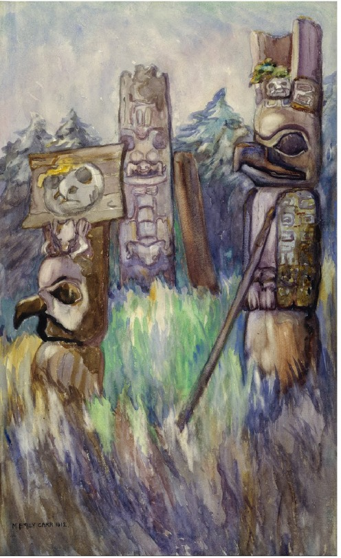 Cha-atl, Field with Pole Emily Carr 1912 via Royal BC Museum