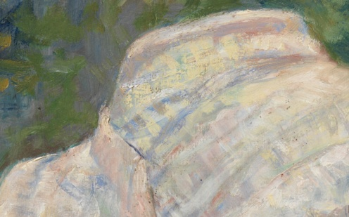 Lydia Crocheting in the Garden at Marly by Mary Cassatt (1880), image source: TheMet )detail)