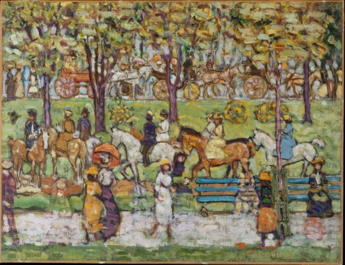 """Central Park"", Maurice Brazil Prendergast, ca. 1914–15 , The Met Fifth Avenue"