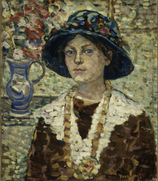 "Maurice Prendergast, ""Portrait of a Girl with Flowers"", 1913, Bequest of Miss Adelaide Milton de Groot (1876–1967), Metropolitan Museum of Art, New York, NY, Public Domain"