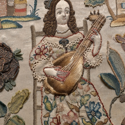 British Cabinet with personifications of the Five Senses, 17th century, Image Source: https://www.metmuseum, (detail)