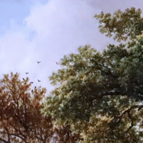 Barend Cornelis Koekkoek. 1803-1862 La Haye. Paysage de rivière avec des pêcheurs d'écrevisses. River landscape with crayfish catchers. Dordrecht Museum Le paysage romantique néerlandais The Dutch romantic landscape by jean louis mazieres (detail)