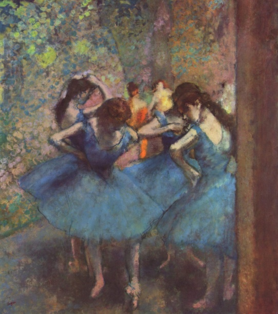 Dancers in Blue (1895). Edgar Degas (French, 1834-1917). Oil on canvas. Musée d'Orsay.