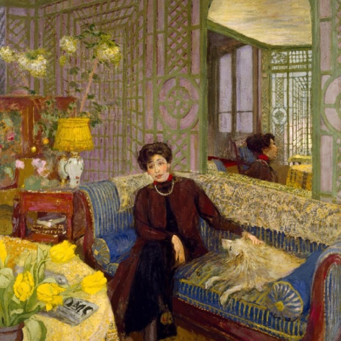 Marcelle Aron (Madame Tristan Bernard), Edouard Vuillard, Distemper on canvas, 1914, w156.5 x h181.3 cm (without frame), Credit Line: The Museum of Fine Arts, Houston, Credit: gift of Alice C. Simkins in memory of Alice N. Hanszen, Via Google Arts & Culture