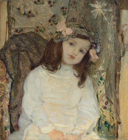 Sigmund Walter Hampel (Austrian, 1868-1949), Portrait of the Artist's Daughter, Ulrike Hampel, aged 4, (c.1908), signed with initials 'S.W.H.' (lower right), oil on panel, 24 ¼ x 22 in. (61.5 x 55.9 cm.), Source: Christie's, Link: https://www.christies.com/lotfinder/Lot/sigmund-walter-hampel-austrian-1868-1949-portrait-of-6049055-details.aspx