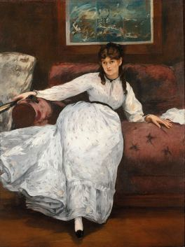 Berthe Morisot posing for The Rest. 1870. By Édouard Manet, (via wikipedia in public domain)