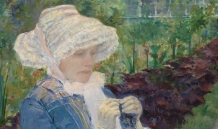 Mary Cassatt: Lydia Crocheting in the Garden at Marly (1880)