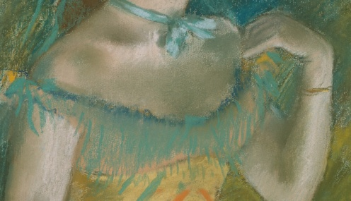 Edgar Degas: The Singer in Green (c.1884), source: TheMet, detail