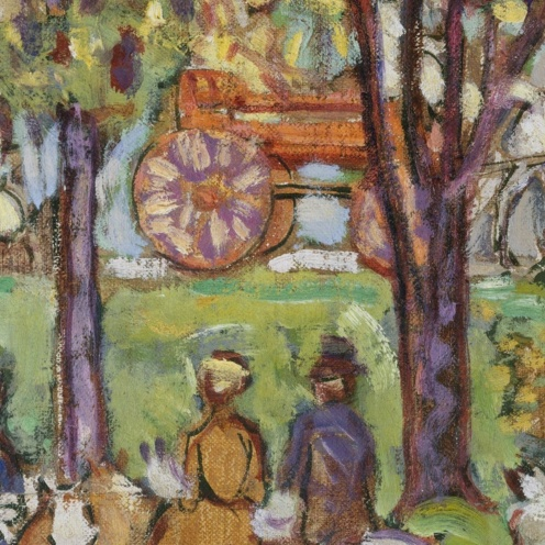"""Central Park"", Maurice Brazil Prendergast, ca. 1914–15 , The Met Fifth Avenue (detail)"