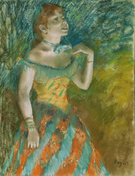 Edgar Degas: The Singer in Green (c.1884), source: TheMet
