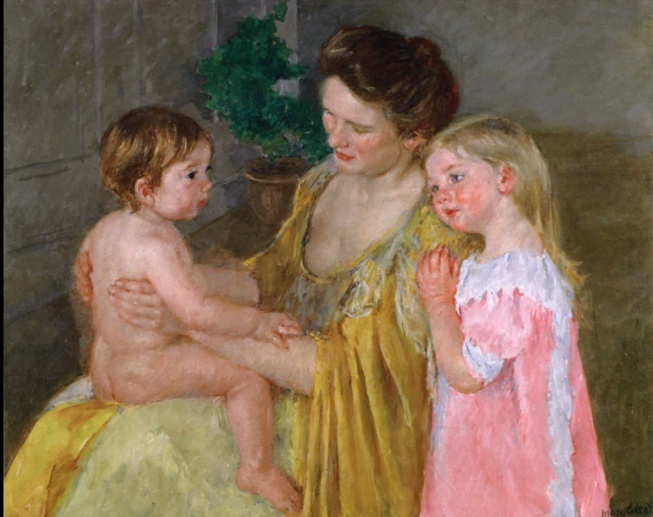 Mother and Two Children by Mary Cassatt, 1906, Image Credit: The Athenaeum