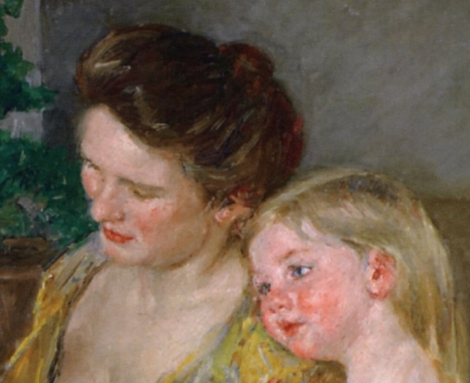 Mother and Two Children by Mary Cassatt, 1906, Image Credit: The Athenaeum (detail)