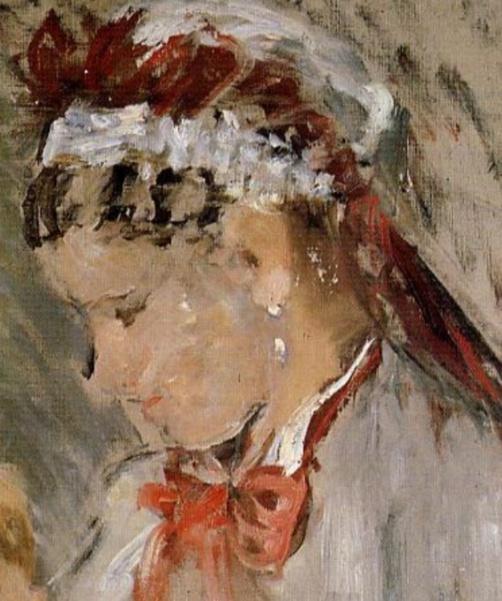 Berthe Morisot_Julie with Her Nurse (1880) detail