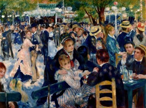 Bal du moulin de la Galette, 1876, by Pierre-Auguste Renoir (1841-1919) Oil on canvas, Paris, Musée d'Orsay, image source Google Arts and Culture