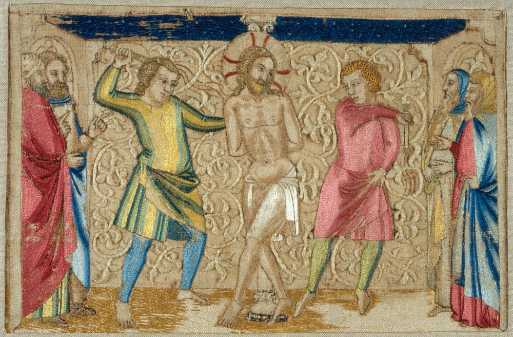 The Flagellation – 14th Century Italian Embroidery – At