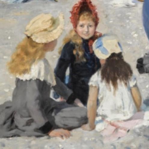Aublet, Albert, L'HEURE DU BAIN AU TRÉPORT, detail