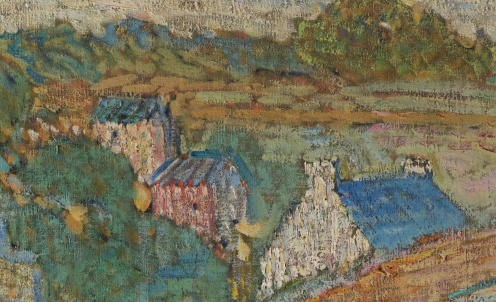 Nikolai Alexandrovich Tarkhov, Les Bretonnes, oil on canvas, source: Sotheby's http://www.sothebys.com/en/auctions/ecatalogue/2011/important-russian-art-/lot.18.html (detail)