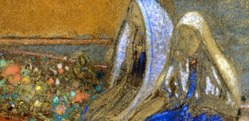 Odilon Redon La Voile jaune (The Yellow Sail), ca. 1905, Pastel on paper Indianapolis Museum of Art, image source: artsy.net, detail
