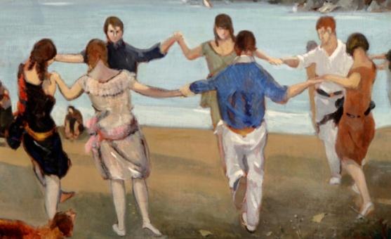 "Rafael Durancamps Folguera: ""Sardanes"" (Catalan 1891-1979) detail"