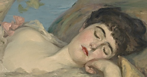 Endormies c1904 Rupert Bunny (detail)