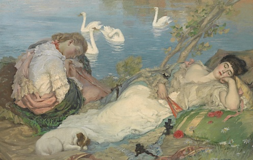 Endormies c1904 Rupert Bunny