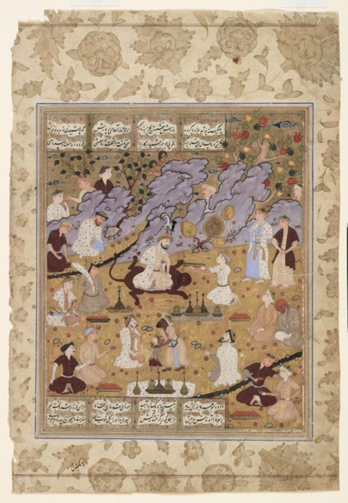 Manuscript painting of Gayumarth from the Shahnameh of Firdawsi, unknown artist, mid-16th century Iran, Royal Ontario Museum, Source: Google Arts & Culture