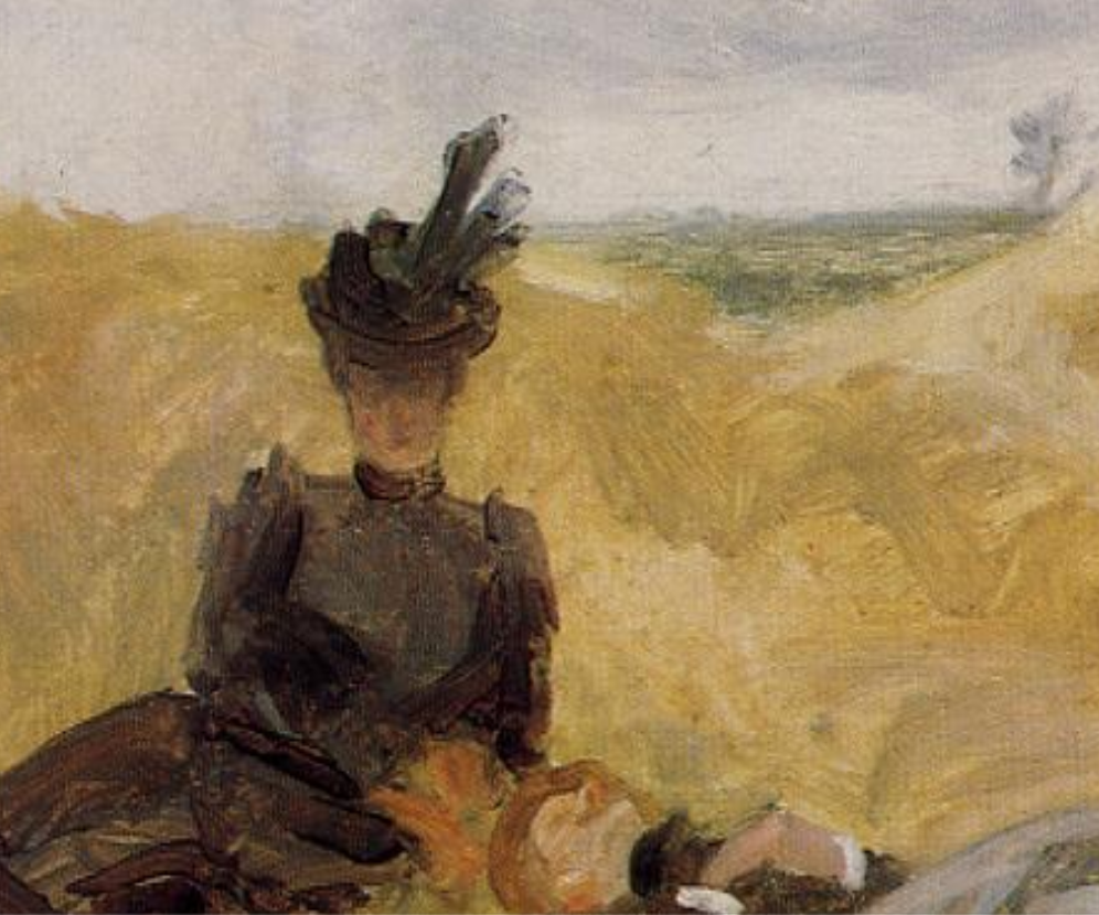 Henri de Toulouse-Lautrec, Party in the Country, 1882, source: wikiart (detail)