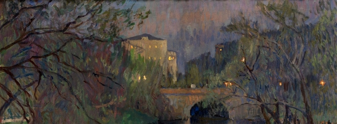 Twilight in Riga, Nikolay Bogdanov-Belsky (detail)