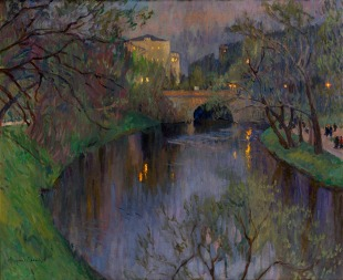 Twilight in Riga, Nikolay Bogdanov-Belsky