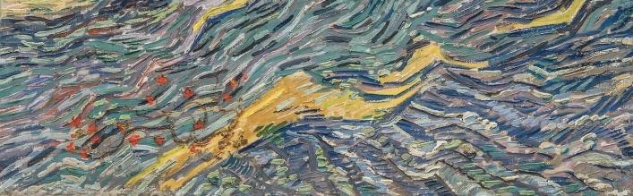 Vincent van Gogh: Laboureur dans un champ, St Remy (1889) detail