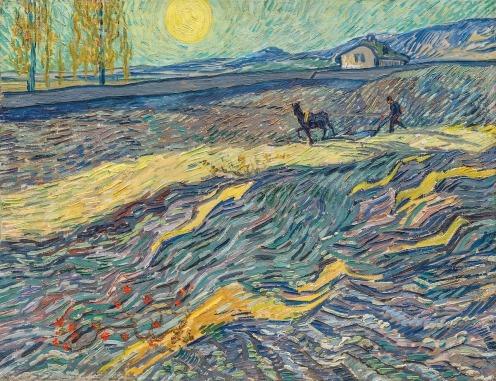 Laboureur dans un champ, St Remy by Vincent van Gogh, (1889) image source: Christies