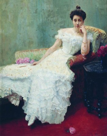 Lady with Roses, Nikolay Bogdanov-Belsky