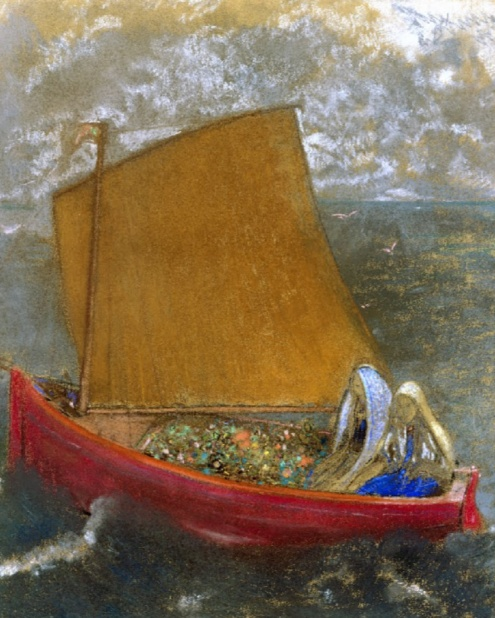 Odilon Redon La Voile jaune (The Yellow Sail), ca. 1905, Pastel on paper Indianapolis Museum of Art, image source: artsy.net