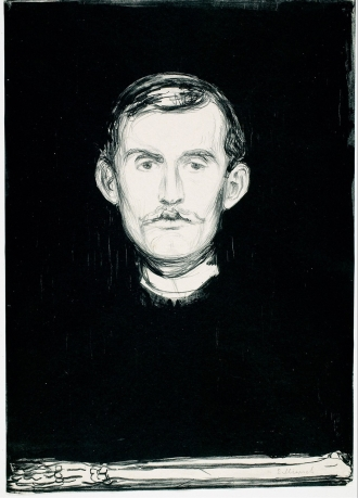 Self Portrait with Skeleton Arm,1895, wikipedia