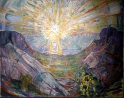 "Version 1 Edvard Munch: ""Solen"" (The Sun), 1910-13 found http://s0irenic.tumblr.com/image/166400131171"