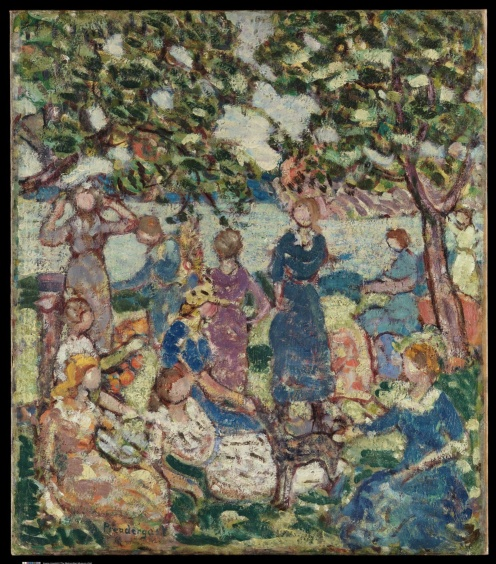 Picnic by the Inlet by Maurice Brazil Prendergast, The Metropolitan Museum of Art, the-met-art