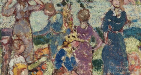 Picnic by the Inlet by Maurice Brazil Prendergast, The Metropolitan Museum of Art, the-met-art, (detail)