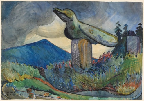 Emily Carr Cumshewa 1912 Via National Gallery of Canada