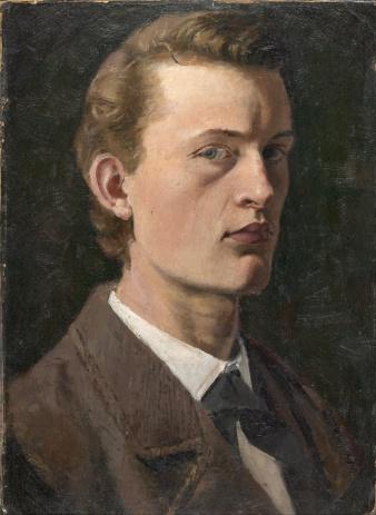 Edvard Munch ,Self-Portrait, 1882 (No. 47). 26 × 19 cm. Munch Museum, Oslo , via wikipedia