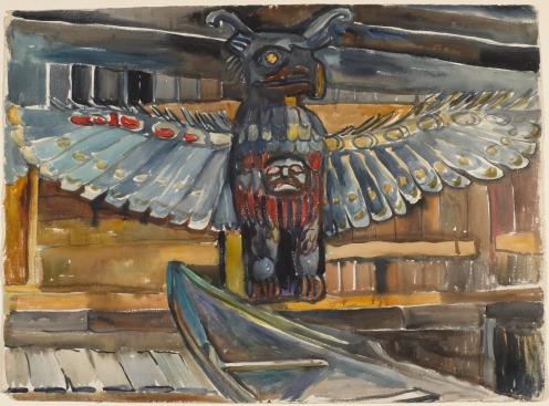 Emily Carr House Posts, Tsatsinuchomi, B.C. 1912 Via National Gallery of Canada