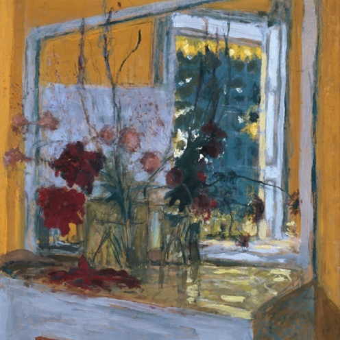 Édouard Vuillard, Flowers on a Mantelpiece at Les Clayes (1932-1935) via Google Arts & Culture