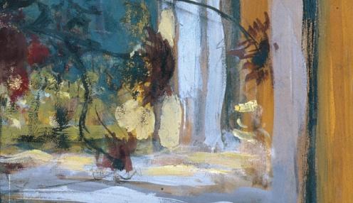 Édouard Vuillard, Flowers on a Mantelpiece at Les Clayes (1932-1935) via Google Arts & Culture, detail