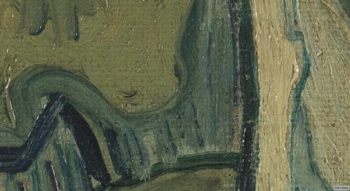 Vincent Van Gogh, Great Peacock Moth, Saint -Remy, May, 1889 in public domain via Van Gogh Museum, (detail).