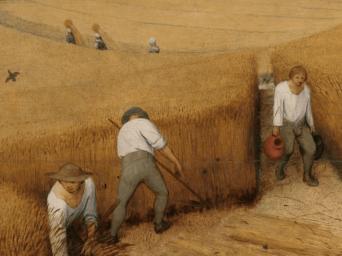 Pieter Bruegel the Elder, The Harvesters (1565) detail
