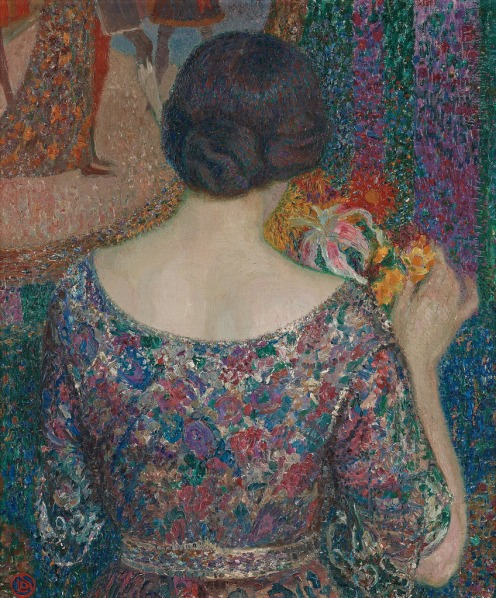 Maria with flowers, 1915, Leon de Smet, Image via womeninarthistory